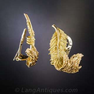 Tiffany & Co. Feather Earrings