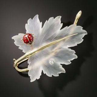 Tiffany & Co. Leaf and Ladybug Brooch - 2