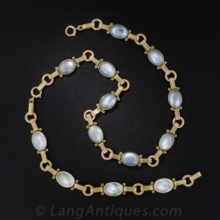 Tiffany & Co. Moonstone Necklace and Bracelet