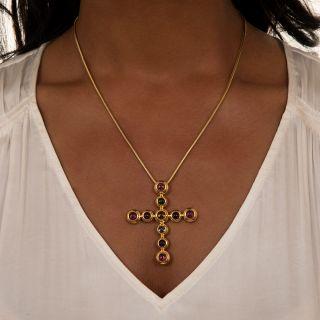 Tiffany. & Co Paloma Picasso Multi-Gem Cross Pendant