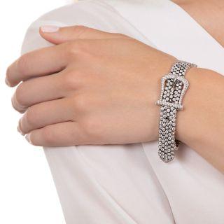 Tiffany & Co. Platinum Diamond Buckle Bracelet