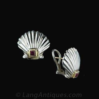 Tiffany & Co. Scallop Shell Earrings