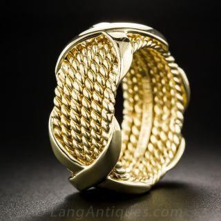 Tiffany & Co Schlumberger 6-Row 'X' Wedding Band - Size 6 3/4