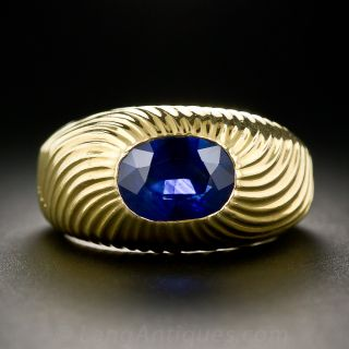 Tiffany & Co. - Schlumberger Sapphire Ring - 1