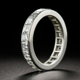 Tiffany & Co Square-Cut Diamond Eternity Band - Size 5 1/2 - 1
