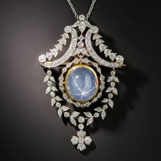 Tiffany & Co. Star Sapphire and Diamond Pendant/Brooch - 3