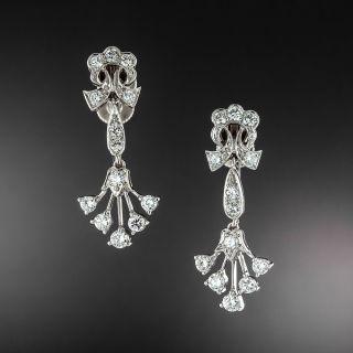 Tiffany & Co. Vintage Diamond Drop Clip Earrings - 1