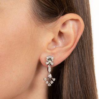 Tiffany & Co. Vintage Diamond Drop Clip Earrings