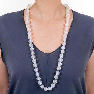 Tiffany & Company Large Moonstone Bead Necklace