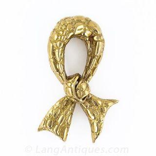 Tiffany Crocodile Ribbon Pin - 1