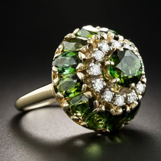 Tourmaline and Diamond Cocktail Ring