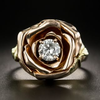 Tr-Color Gold Diamond Rose Ring by Jones and Woodland - 2