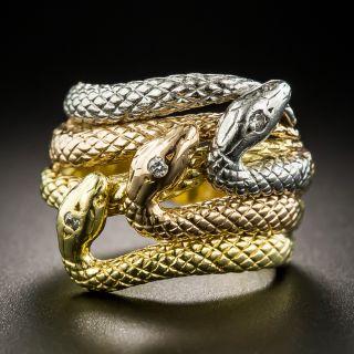 Triple Snake Ring - 2