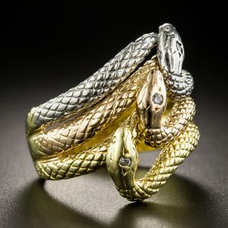 Triple Snake Ring