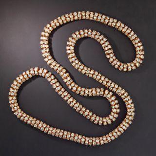 Tubular Diamond Rose Gold Necklace - __ Carats - 1