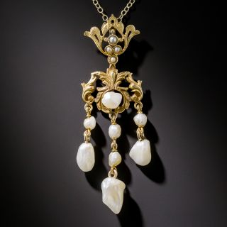 Turn-of-the-Century Freshwater Pearl Necklace