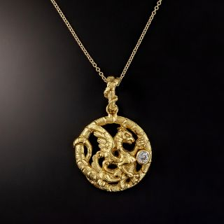 Turn-of-the-Century Griffin Pendant - 1