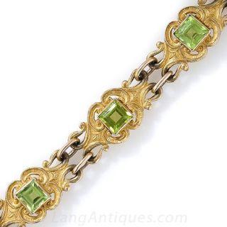 Turn-of-the-Century Peridot Bracelet - 2