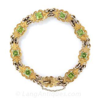 Turn-of-the-Century Peridot Bracelet