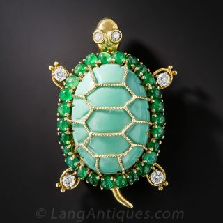 Turtle Brooch by Emis Beros
