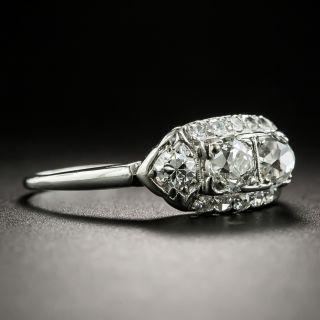 Art Deco Two-Stone Petite Diamond Ring
