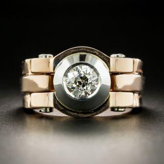 Two-Tone Retro .78 Carat Diamond Ring - 2