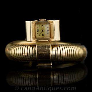 Unique Retro Watch and Lapel Pin Main View
