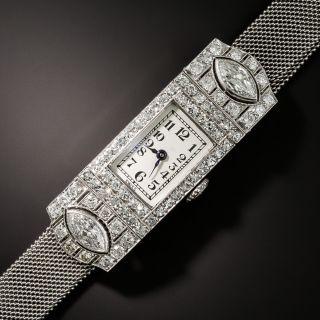 Vacheron Constantine Art Deco Diamond Platinum Mesh Watch  - 1
