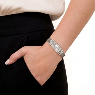Vacheron Constantine Art Deco Diamond Platinum Mesh Watch