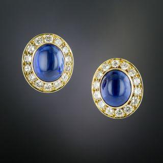Van Cleef & Arpels Cabochon Sapphire and Diamond Earrings - 2