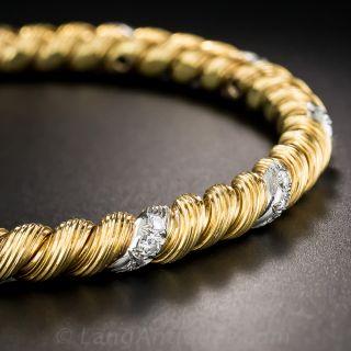Van Cleef & Arpels Vintage Diamond Bangle Bracelet