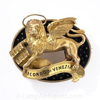 Venetian Lion Brooch