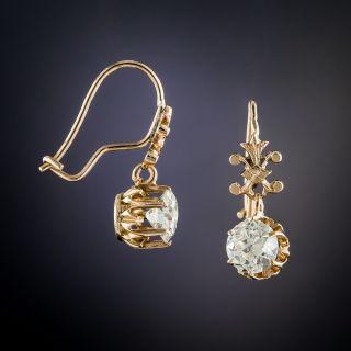 Victorian 1.10 Carat Diamond Dangle Earrings