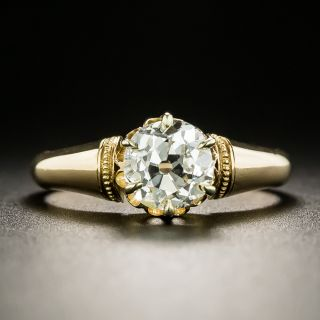 Victorian 1.12 Carat Old Mine-Cut Diamond Solitaire Ring - 1