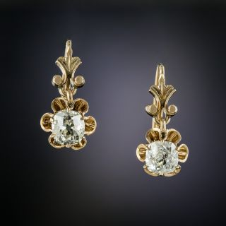 Victorian 1.15 Carat Diamond Drop Earrings - 2