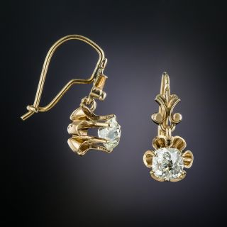 Victorian 1.15 Carat Diamond Drop Earrings