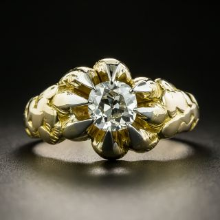 Victorian 1.17 Carat Diamond Solitaire Engagement Ring- GIA I VS1 - 2