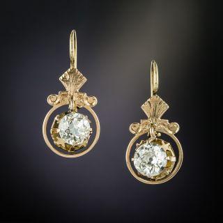 Victorian 1.68 Carat Diamond Earrings - 2