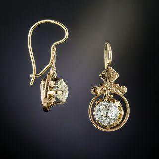 Victorian 1.68 Carat Diamond Earrings