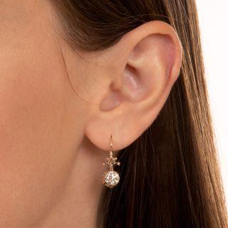 Victorian 1.83 Carat Total Weight Diamond Dangle Earrings - GIA