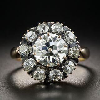 Victorian 1.85 Carat Diamond Cluster Ring - GIA - 1