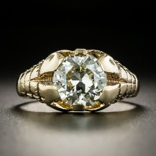Victorian 1.90 Carat Diamond Solitaire Ring - GIA L VS1 - 2