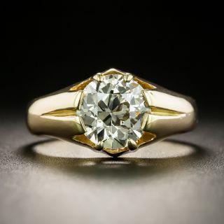 Vintage 1.91 Carat Diamond Solitaire Engagement Ring - GIA  - 2