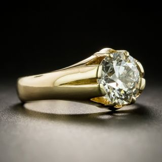 Victorian 1.91 Carat Diamond Solitaire Engagement Ring - GIA