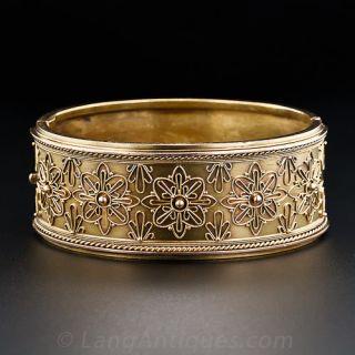Victorian 15k Bangle Bracelet