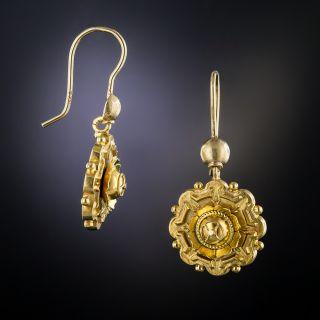 Victorian 15K Gold Drop Earrings