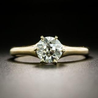 Victorian 18K .99-Carat Diamond Solitaire Ring - GIA L VVS2 - 2