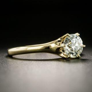 Victorian 18K .99-Carat Diamond Solitaire Ring - GIA L VVS2