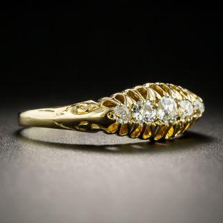 Victorian 18K Five-Stone Diamond Band Ring