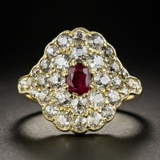 Antique Ruby and Diamond Ring - 1